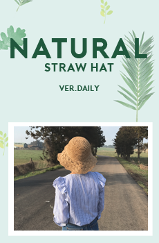 Natural straw hat (ver.데일리)