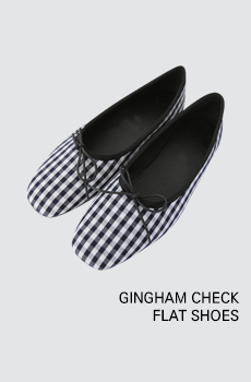 Gingham-플랫슈즈[size:225~250 / 1color]