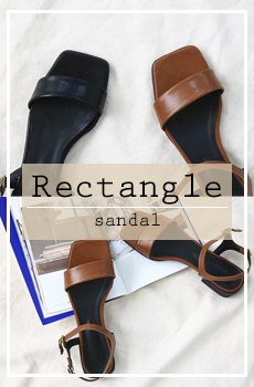 Rectangle-샌들[size:230~250 / 2color]