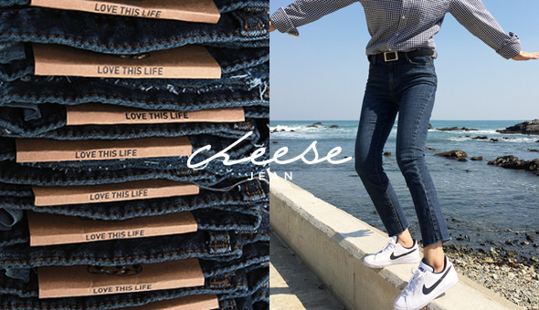 Cheese skinny (ver.쉐이딩일자컷)[size:S,M,L,XL / 1color]